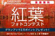 「紅葉」をテーマに2ヶ月間連続で大募集!「紅葉フォトコンテスト」を11月30日(土)まで開催中!